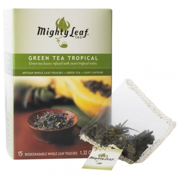 MIGHTY LEAF Green Tea Tropical 15 Teebeutel
